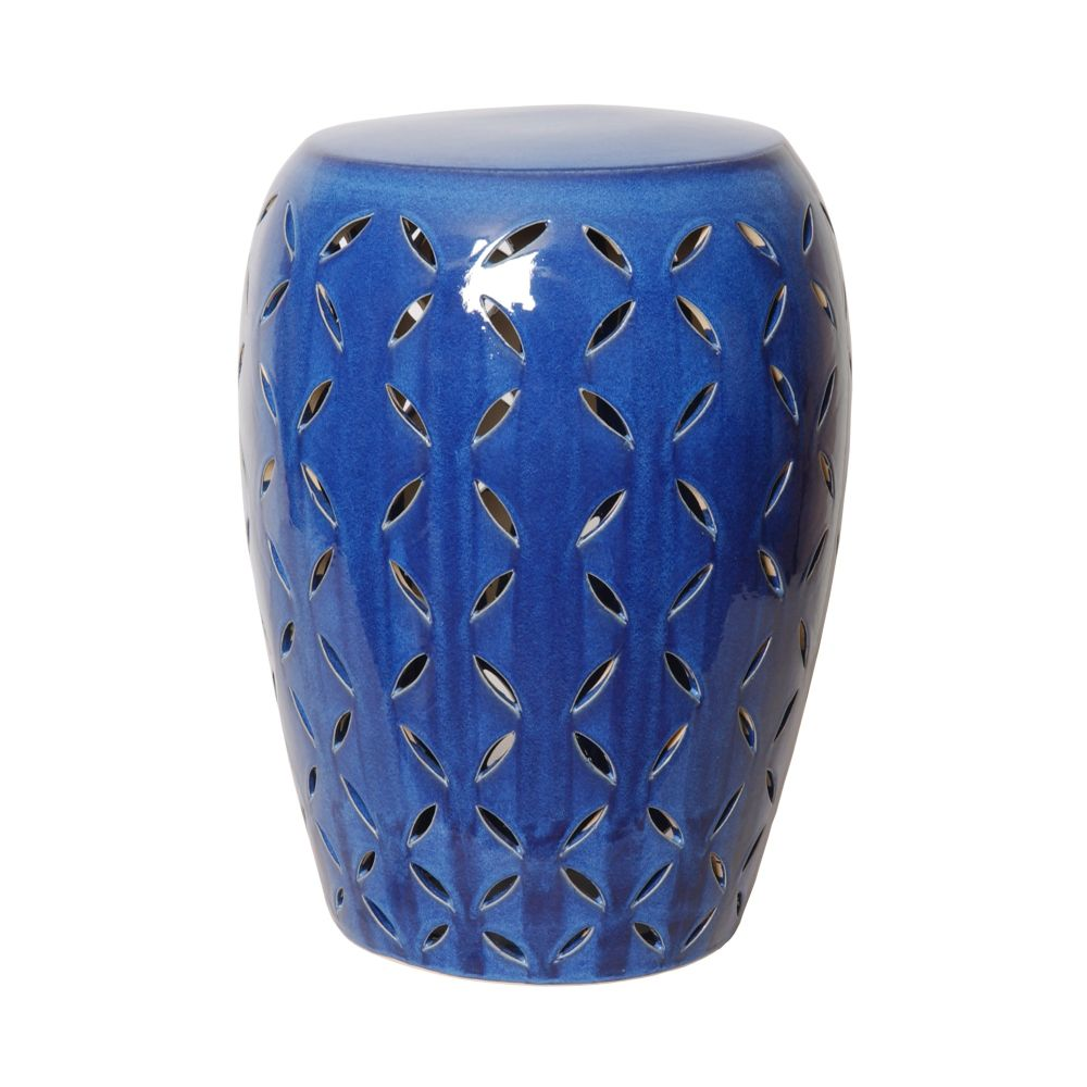 Blue Lattice Garden Stool Seven Colonial
