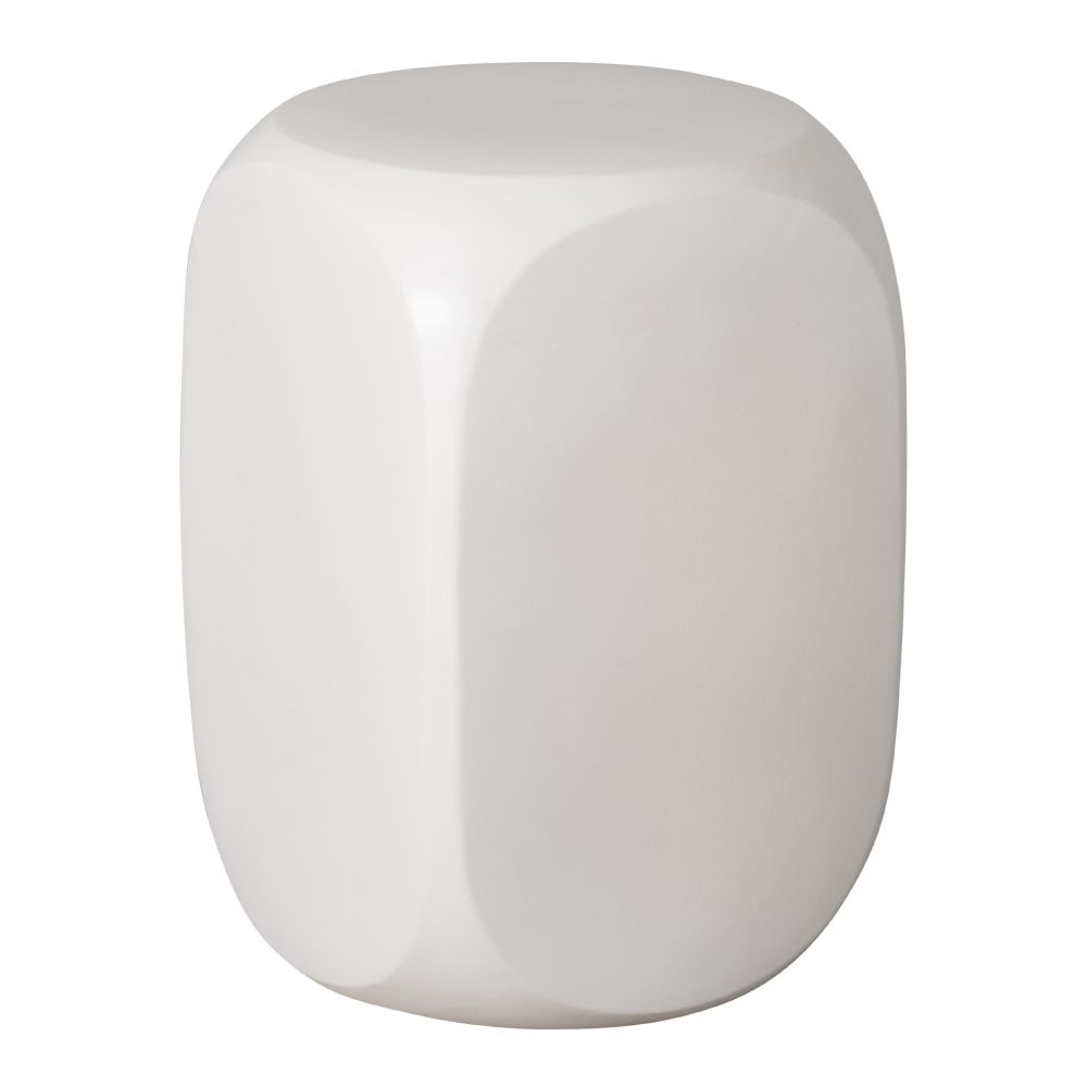 White Dice Garden Stool Seven Colonial