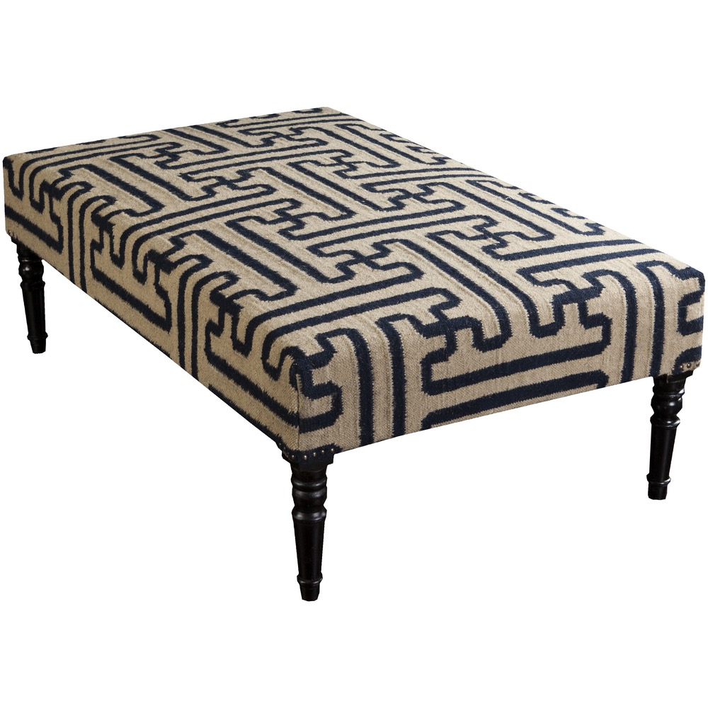 Khaki and Navy Archive Bench by Surya